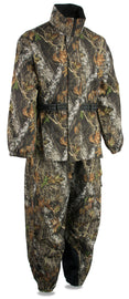 Men's Mossy Oak® Camouflage Rain Suit Water Proof w/ Reflective Piping - HighwayLeather