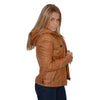 Ladies hooded scuba jacket with draw string - HighwayLeather