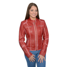 Women's Sheepskin Scuba Style Moto Jacket - HighwayLeather