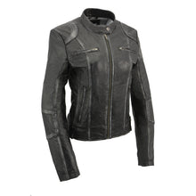 Womens Sheepskin Scuba Style Moto Jacket - HighwayLeather