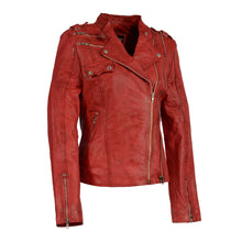Woman's Double Zipper Asymmetrical Moto Jacket - HighwayLeather