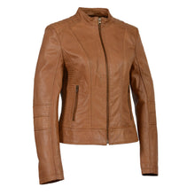 Woman's Zip Front Stand Up Collar Scuba Jacket - HighwayLeather