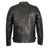 Men's Snap Collar Leather Jacket w/ Quilted Shoulders - HighwayLeather