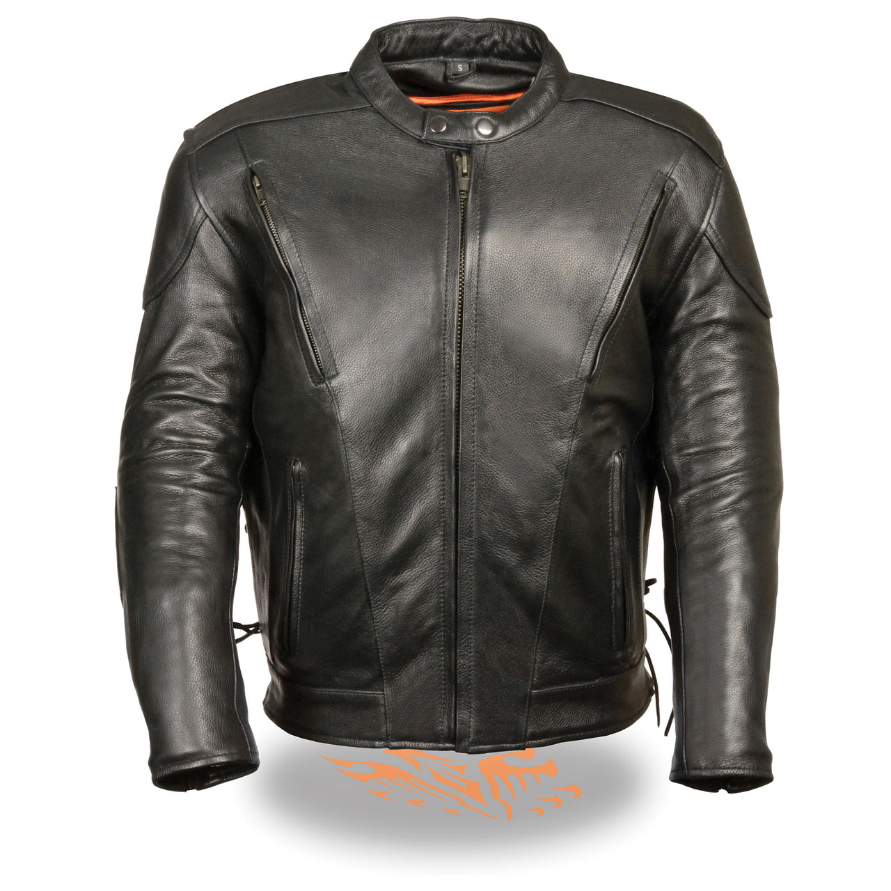 Men's Side Lace Vented Scooter Jacket-Tall - HighwayLeather