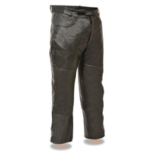 Men's Jean Style Pocket Leather Over Pants - highwayleather