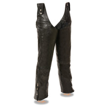 Men's Adjustable Side Snap Beltless Chap - highwayleather
