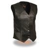 Ladies Classic Four Snap Vest - HighwayLeather