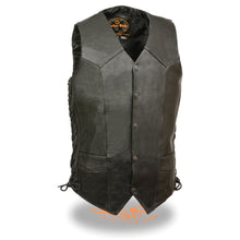Men's Classic Side Lace Biker Vest - Tall - highwayleather