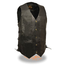 Men's 10 Pocket Side Lace Vest - Tall - highwayleather