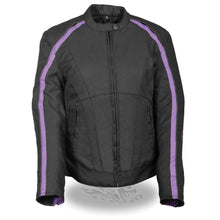 Women's Textile Jacket w/ Stud & Wings Detailing - HighwayLeather