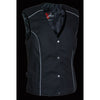 Ladies Textile Snap Front Vest w/ Wing  Embroidery - HighwayLeather