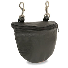 Leather Zipper Close Belt Bag w/ Belt Clasps (8.5X5.5) - HighwayLeather