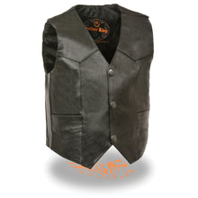 Kids Basic Three Snap Vest - HighwayLeather