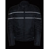 Men's Scooter Style Textile Jacket w/ Reflective Stripes - HighwayLeather