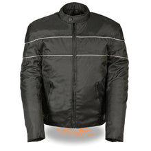 Men's Scooter Style Textile Jacket w/ Reflective Stripes - TALL - HighwayLeather