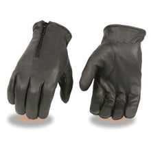 Men's Thermal Lined Leather Gloves w/ Zipper Closure - HighwayLeather