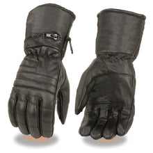 Men's Leather Gauntlet Gloves w/ Rain Mitton - HighwayLeather
