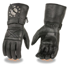 Men's Leather Gauntlet Gloves w/ Studs & Concho's - HighwayLeather