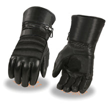 Men's Leather Gauntlet Gloves w/ Rain Mitton, Suede Palm - HighwayLeather