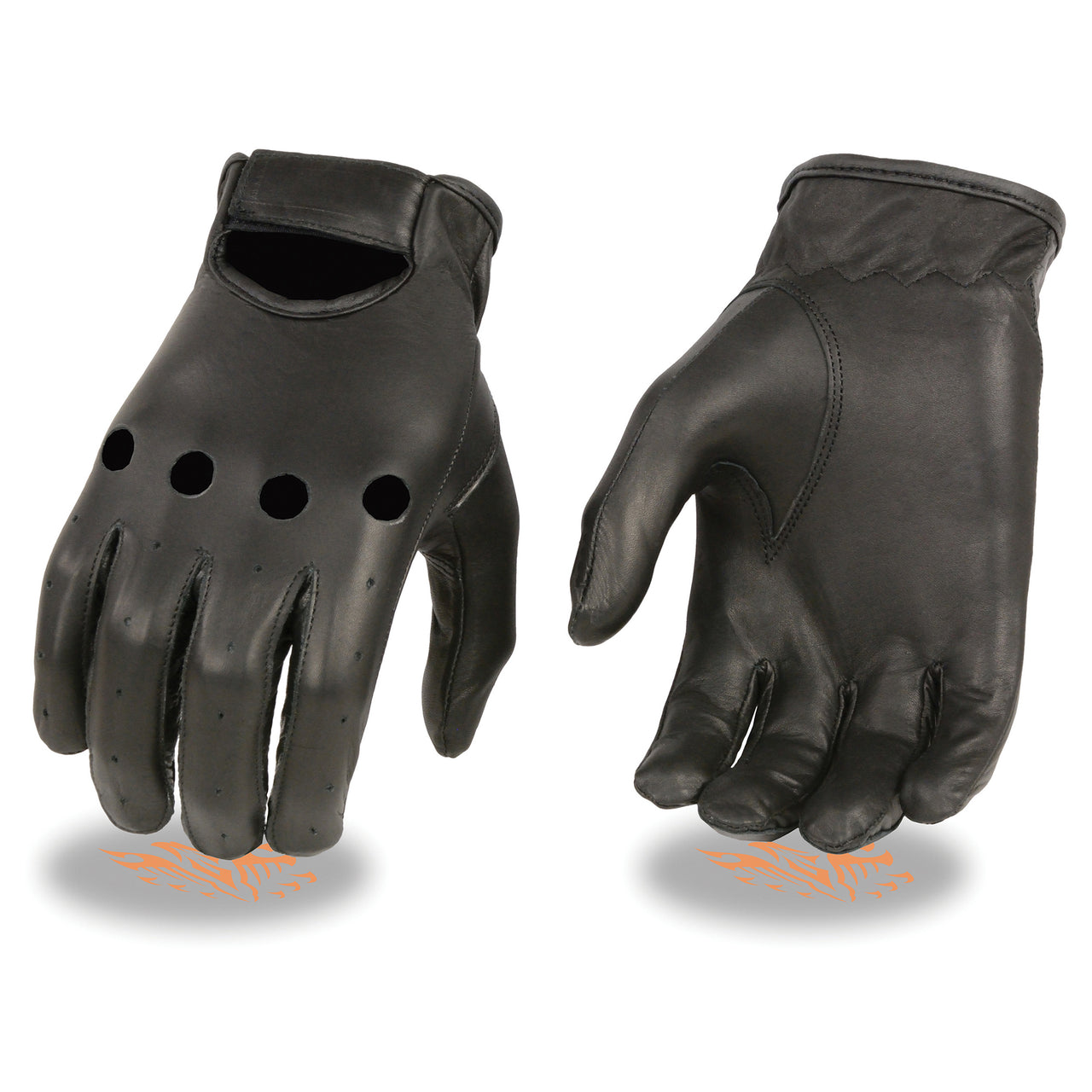 Men's Unlined Leather Classic Style Driving Gloves - HighwayLeather