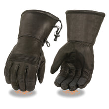 Men's Waterproof Gauntlet Gloves w/ Stretch Knuckles - HighwayLeather