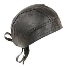 Unisex Leather Skull Cap - highwayleather