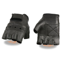 Men's Leather Fingerless Glove w/ Gel Palm - HighwayLeather