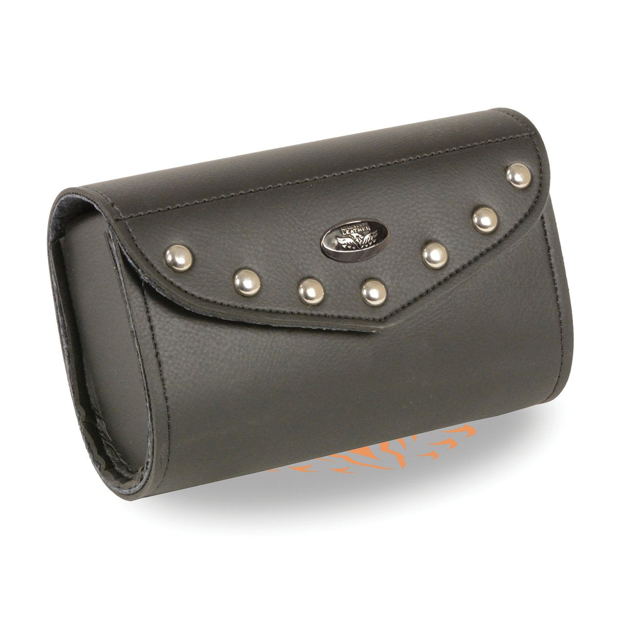 Small PVC Studded Windshield Bag w/ Velcro Closure (8X8X4) - HighwayLeather