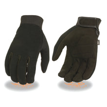 Men's Mechanics Glove w/ Amara Bottom & Gel Palm - HighwayLeather