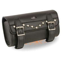 Large Two Buckle Studded PVC Tool Bag w/ Quick Release(10X4.5X3.25) - HighwayLeather