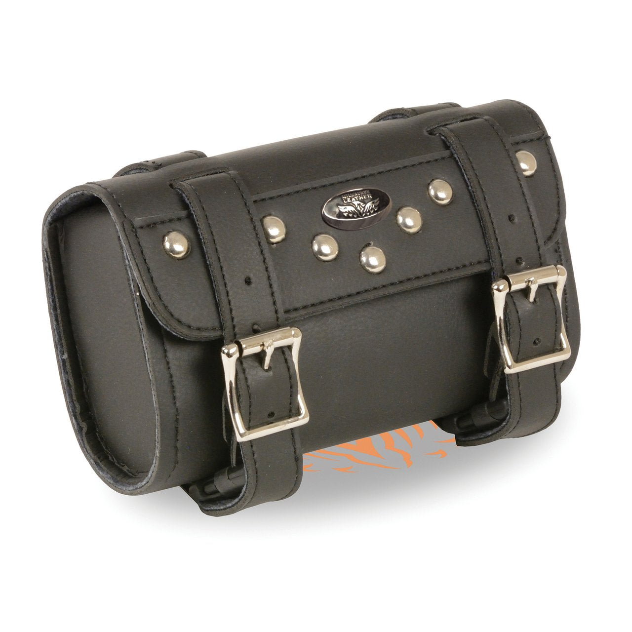 Small Two Buckle Studded PVC Tool Bag w/ Quick Release (8X4X3) - HighwayLeather
