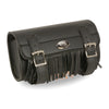Large Two Buckle Fringed PVC Tool Bag w/ Quick Release(10X4.5X3.25) - HighwayLeather