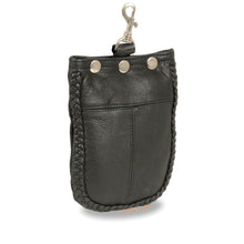 Leather Braided Belt Bag w/ Belt Clasp (7.5X6) - HighwayLeather