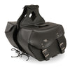 Large Zip-Off PVC  Throw Over Saddle Bag (15X12X7X22) - HighwayLeather