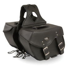 Medium Zip-Off PVC Studded Throw Over Saddle Bag (13X10X6X19) - HighwayLeather