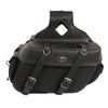 Large Zip-Off PVC Throw Over Saddle Bag (16X11X6X22) - HighwayLeather