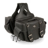 Medium Zip-Off PVC Throw Over Riveted Saddle Bag (13X10X5X20) - HighwayLeather