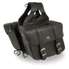 Large Zip-Off PVC Slanted Throw Over Saddle Bag (15X12X5X22) - HighwayLeather