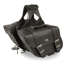 Medium Zip-Off PVC Slanted Throw Over Saddle Bag (12X9X5X18) - HighwayLeather