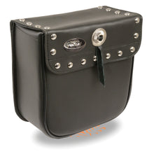 Small PVC Studded Sissy Bar Bag(9X9X4.5) - HighwayLeather