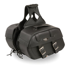 Zip-Off PVC Throw Over Rounded Saddle Bag (15X10X6X18) - HighwayLeather