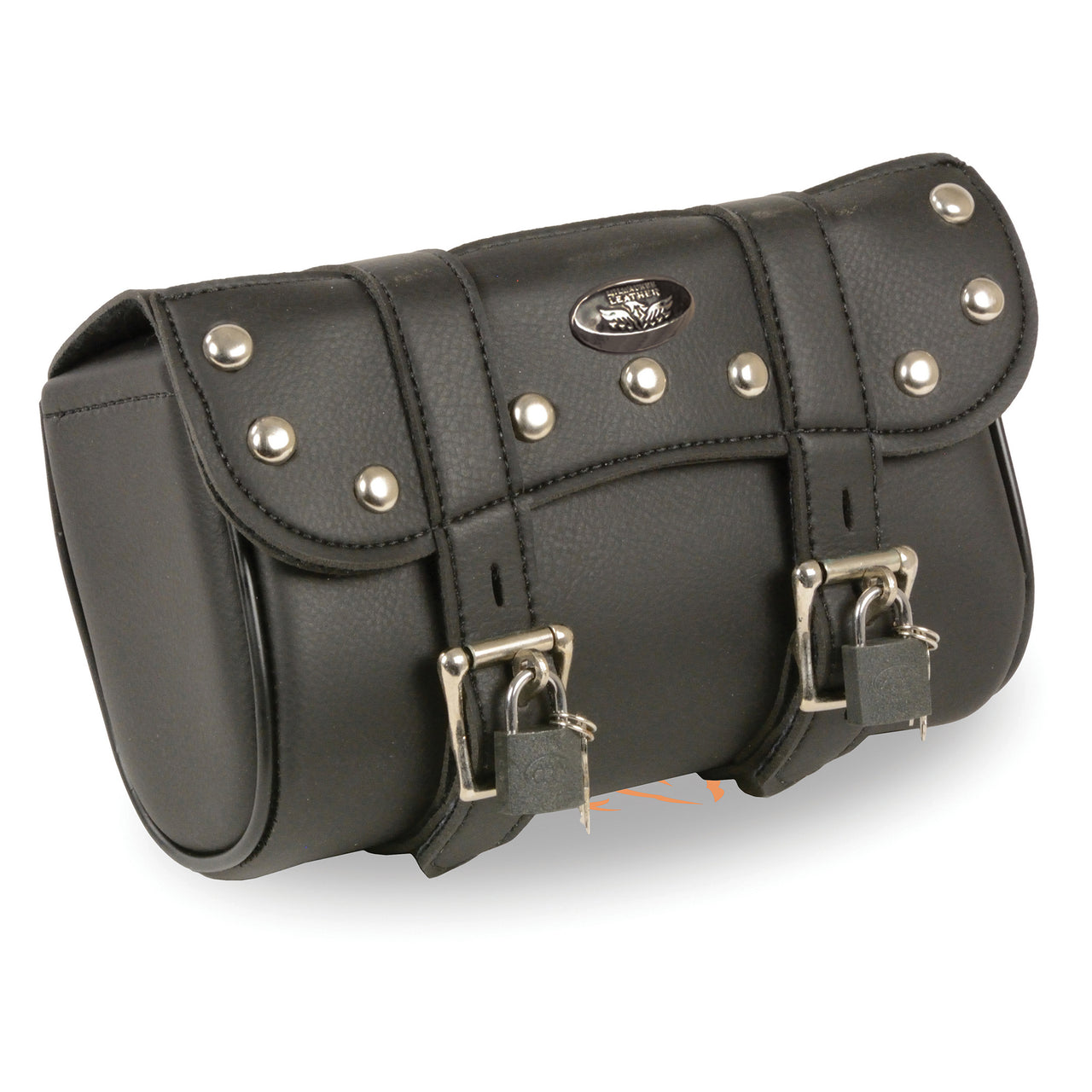 Medium Studded PVC Tool Bag w/ Key Locks (9X4.5X3.5) - HighwayLeather