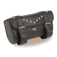 Double Strap Studded Tool Bag w/ Quick Release (10X4.5X3.25) - highwayleather