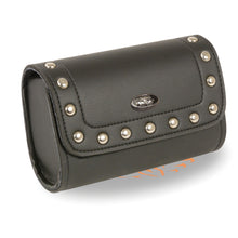 Small Studded PVC Windshield Bag w/ Velcro Closure (8X4X3) - HighwayLeather
