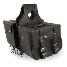 Zip-Off PVC Extended Flap Throw Over Saddle Bag (15X11X7X21) - highwayleather