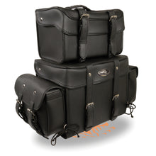 Large Four Piece PVC Touring Pack w/ Barrel Bag (15.5X13X10) - highwayleather
