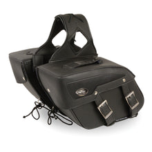Medium Zip-Off PVC Slanted Throw Over Saddle Bag (13X10X5.5X20) - highwayleather