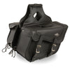 Large Braided Zip-Off PVC Throw Over Saddle Bag (16X10X6X22) - HighwayLeather