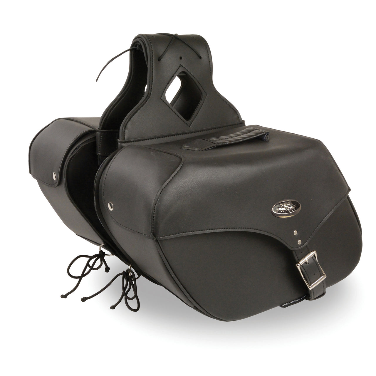 Large Zip-Off Single Strap PVC Throw Over Saddle Bag (16X11X6X22) - HighwayLeather
