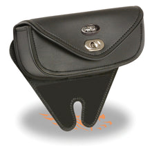 Small Single Pocket Windshield Mount Bag w/ Turn Clasp (8.5X4X3) - HighwayLeather
